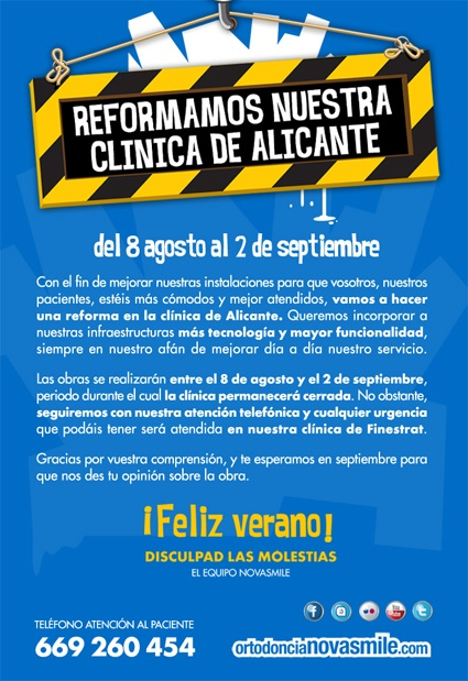 Reformamos nuestra clínica de Alicante!!