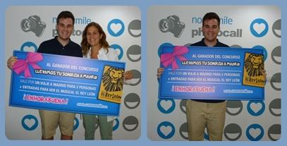 """Ganador del concurso """"Llevamos tu sonrisa a Madrid"""""""